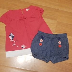 12-18M Gymboree short set